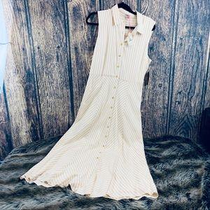 Daniel C. Sage Ivory Drew Button Down long  Dress